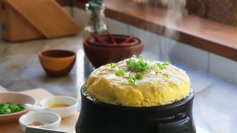 Trứng hấp Hàn Quốc