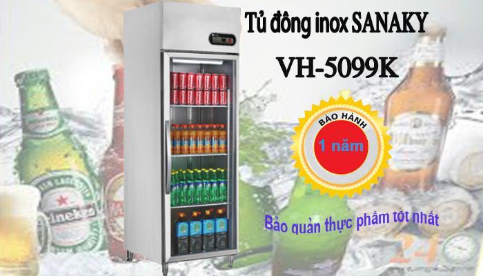 Tủ đông inox cánh kính Sanaky VH-5099K