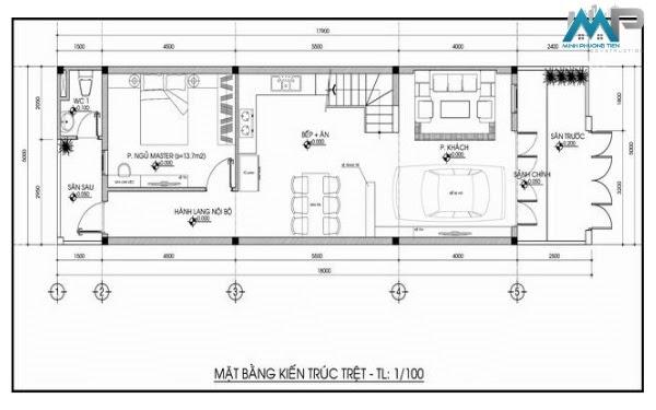 Bản vẽ thiết kế xây dựng nhà phố, xây dựng phần thô bởi Xây dựng Minh Phương Tiến