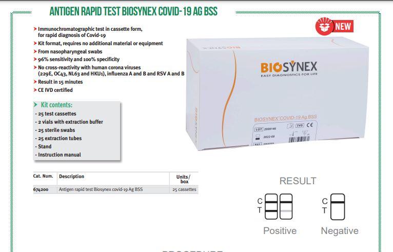 Biosynex Covid-19 Ag BSS