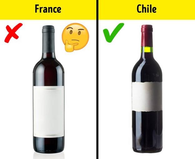 Các quốc gia sản xuất rượu càng ở phía nam càng tốt