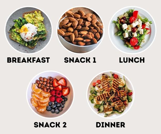 Chia thành nhiều bữa ăn trong ngày