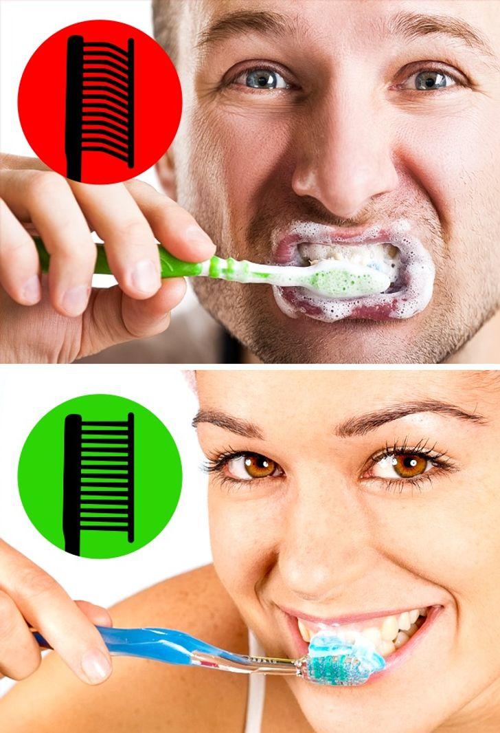 Chúng ta ấn bàn chải đánh răng quá mạnh khi đánh răng