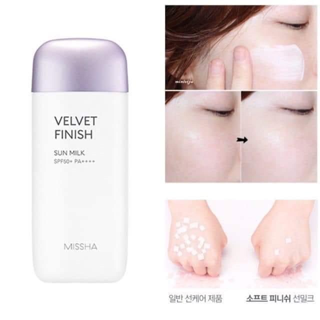 Kem chống nắng Missha All Around Safe Block Velvet Finish Sun Milk