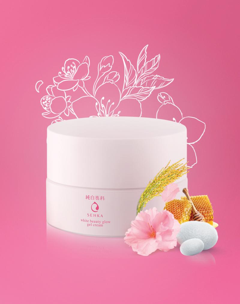 Kem dưỡng trắng da ban đêm Senka White Beauty Glow Gel Cream
