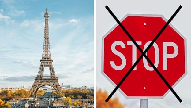 """Không có biển báo """"Dừng lại"""" trên các con đường ở Paris"""