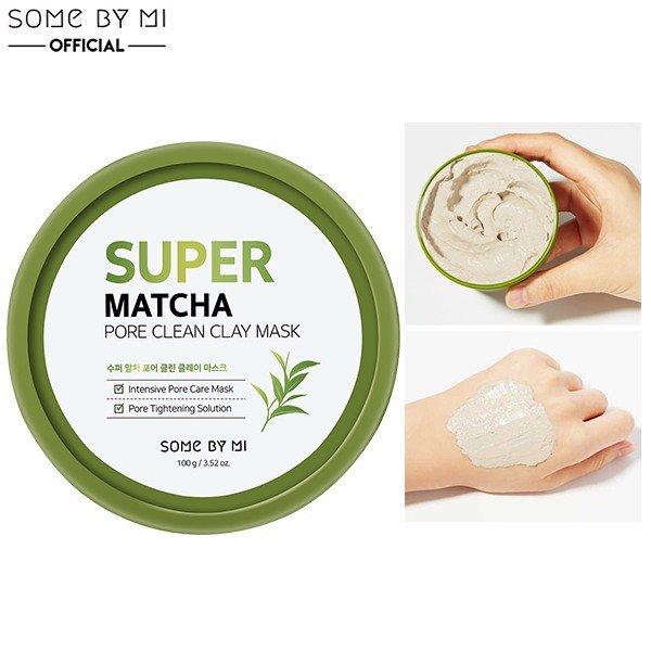 Mặt nạ đất sét trà xanh Some By Mi Super Matcha Pore Clean Clay Mask