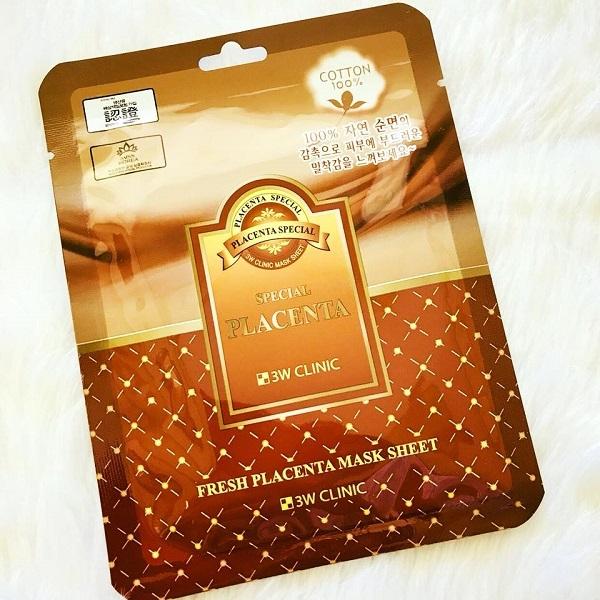 Mặt nạ nhau thai cừu 3W Clinic Fresh Placenta Mask Sheet