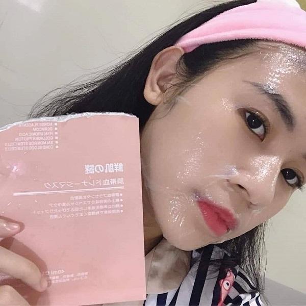 Mặt nạ nhau thai tế bào gốc Rwine Beauty Stem Cell Placenta Mask Nhật Bản