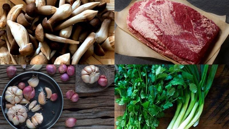 Nấm mối xào thịt bò