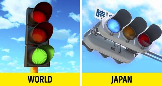 Ngay cả các màu sắc của đèn giao thông cũng không giống nhau trên khắp thế giới