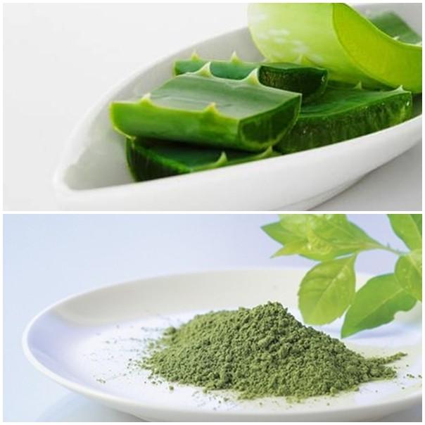 Nha đam và trà xanh