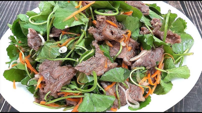 Nộm rau má thịt bò