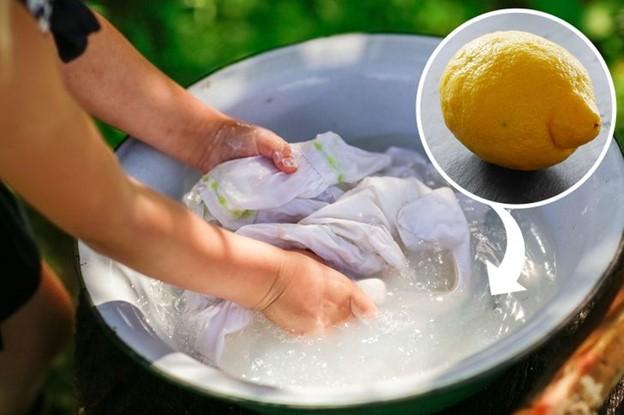 Nước chanh có tác dụng tẩy trắng sáng quần áo hiệu quả