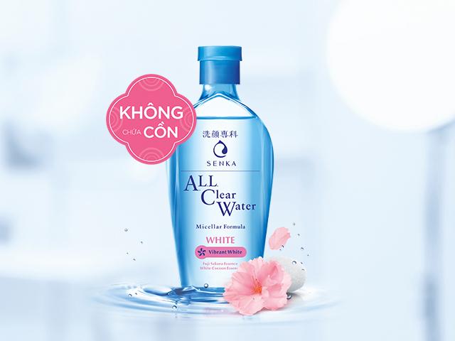 Nước tẩy trang Senka All Clear Water Micellar Formula White
