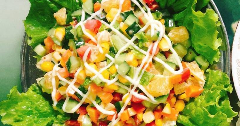 Salad dưa chuột, ngô ngọt