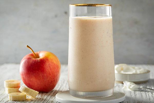Sinh tố chuối táo