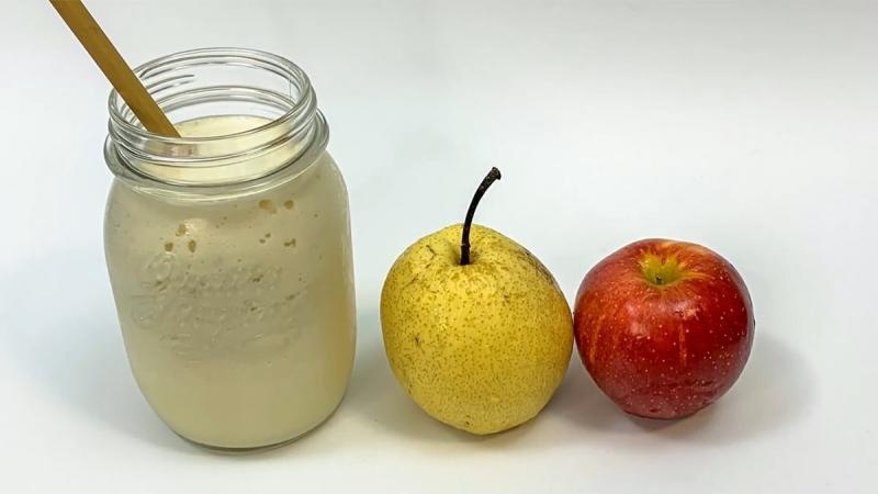 Sinh tố táo bị cắn lê