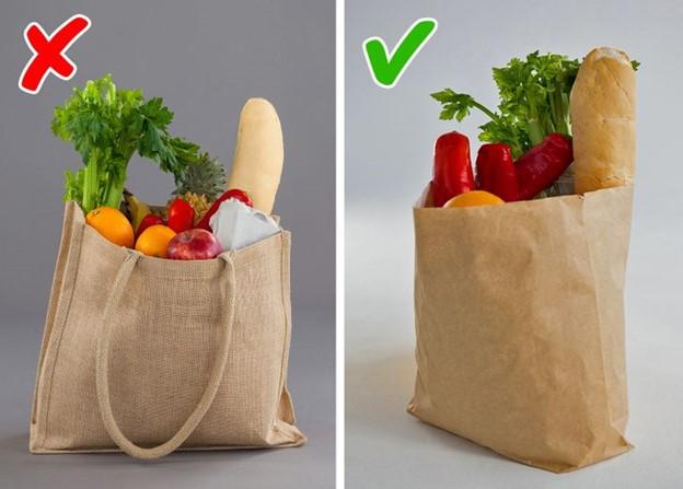 Sử dụng túi đựng thực phẩm nhiều lần