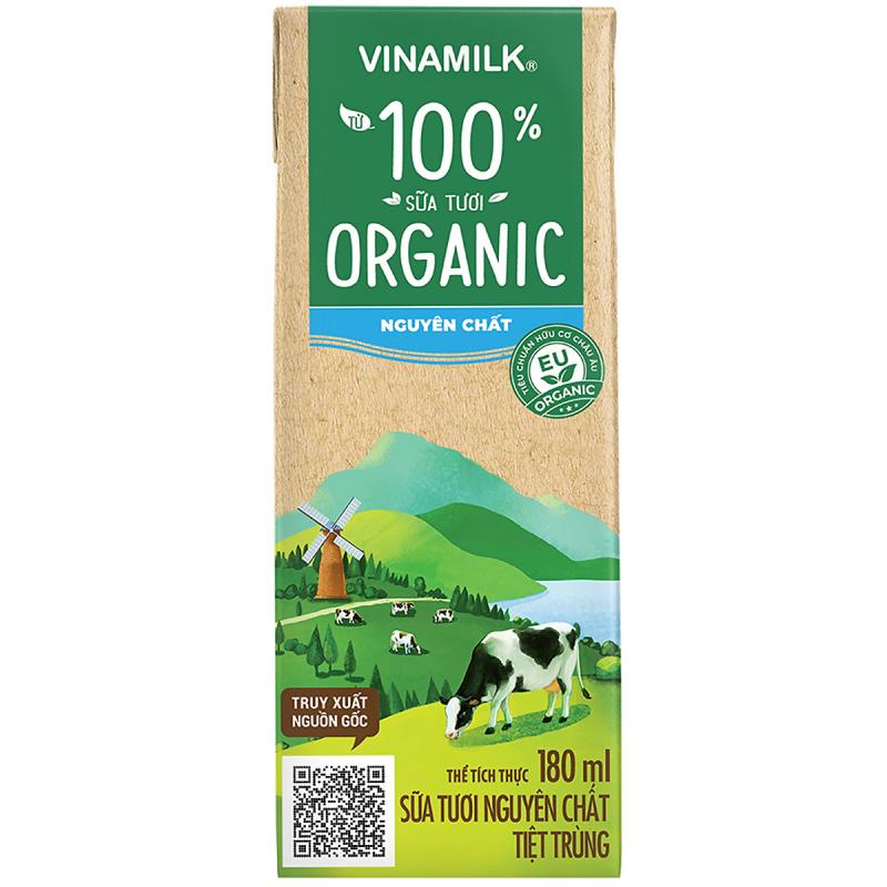 Sữa tươi tiệt trùng Vinamilk organic 100%