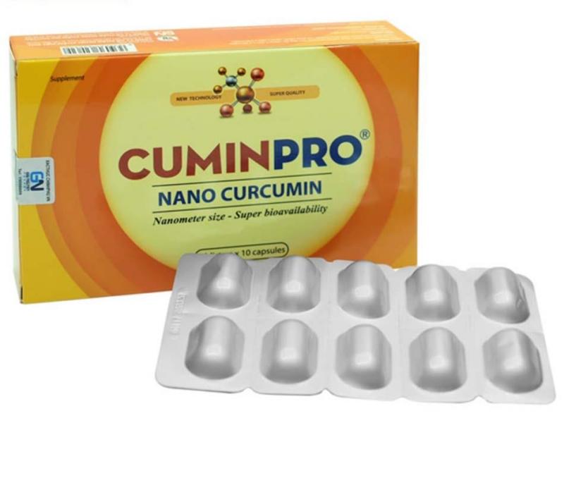 TPCN hỗ trợ điều trị viêm loét dạ dày, tá tràng CuminPro