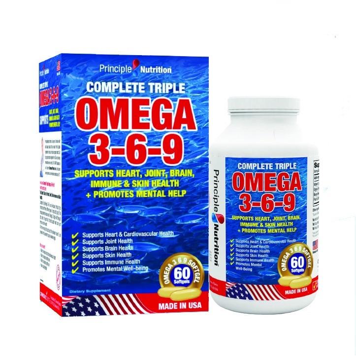 Viên uống Omega 3-6-9 Principle Nutrition USA