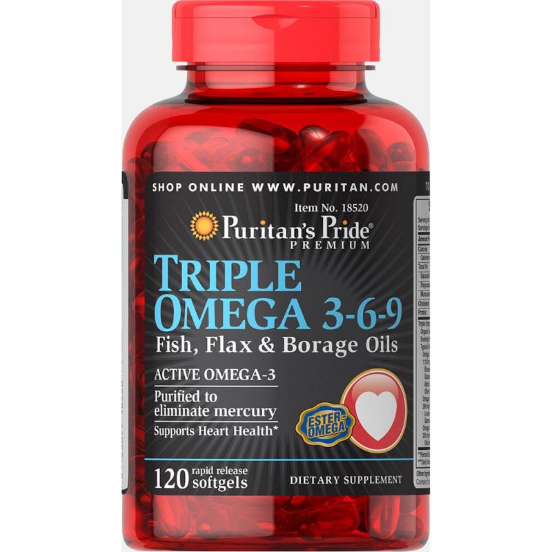 Viên uống Puritan's Pride Triple Omega 3-6-9