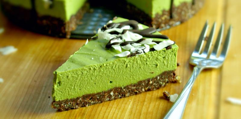 bánh cheesecake trà xanh