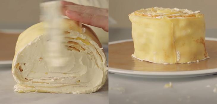 Bánh Crepe xoài ngàn lớp
