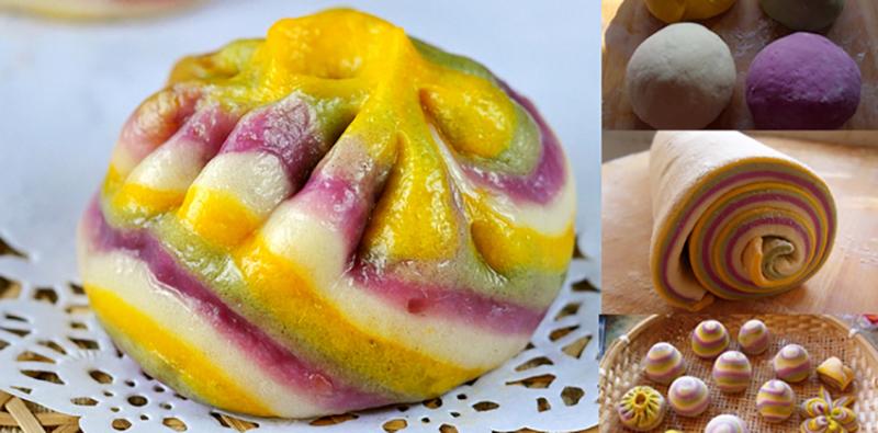 Bánh bao cầu vồng