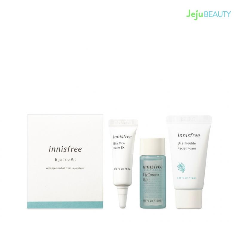 Bộ sản phẩm chăm sóc da mụn innisfree Bija Skin Care Set