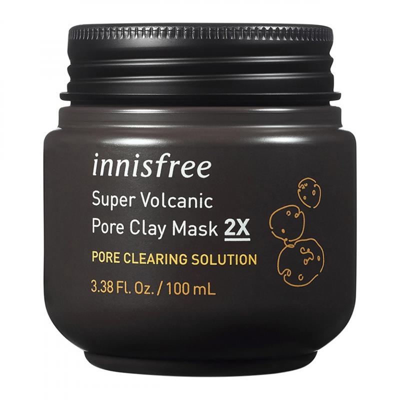 Bộ sản phẩm chăm sóc da và se khít lỗ chân lông innisfree Volcanic Pore Clay Mask Set