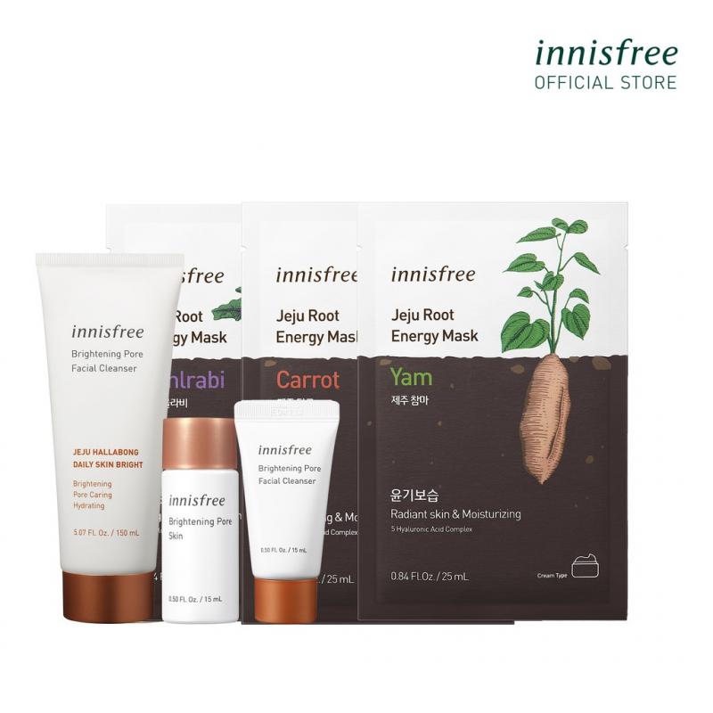 Bộ sản phẩm chăm sóc dưỡng sáng thu nhỏ lỗ chân lông innisfree Brightening Pore Set