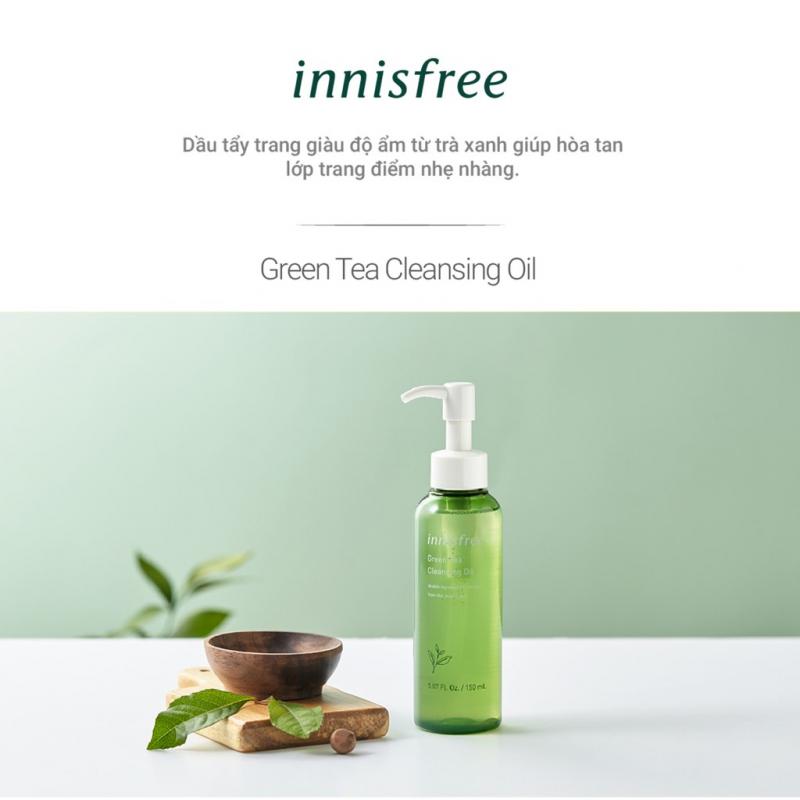 Bộ sản phẩm tẩy trang dưỡng ẩm innisfree Green Tea Cleansing Oil Set