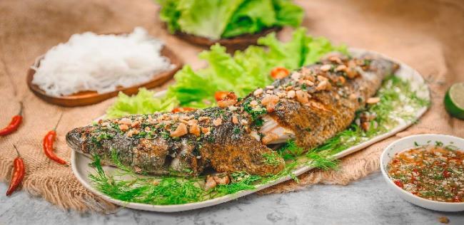 Cá lóc nướng bằng nồi chiên không dầu