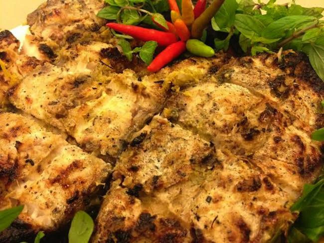 Cá vược Chile nướng bằng nồi chiên không dầu