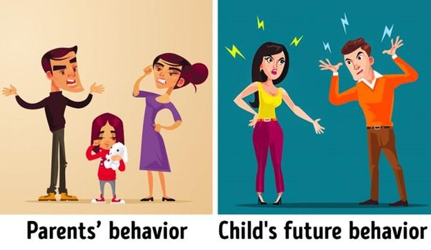 Cha mẹ thường xuyên cãi vã trước mặt con cái