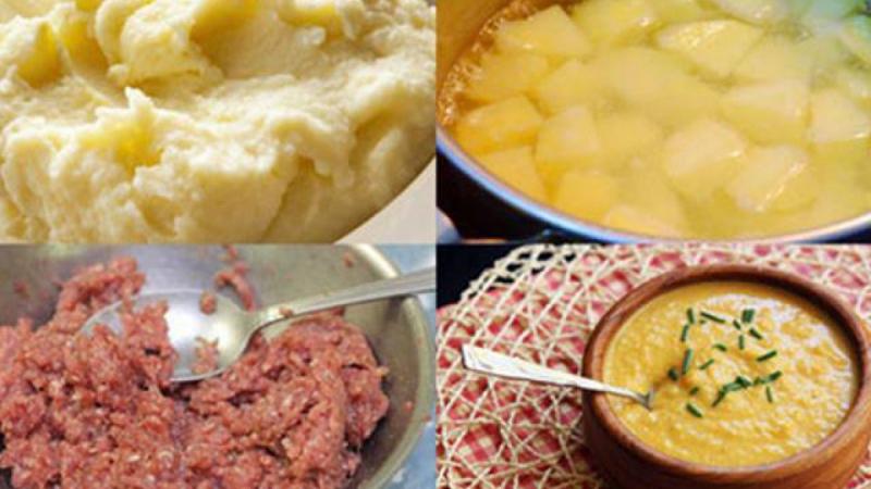 Cháo thịt bằm khoai tây