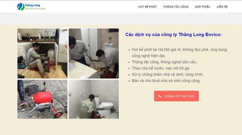 Công ty hút bể phốt – thông cống Thăng Long Envico