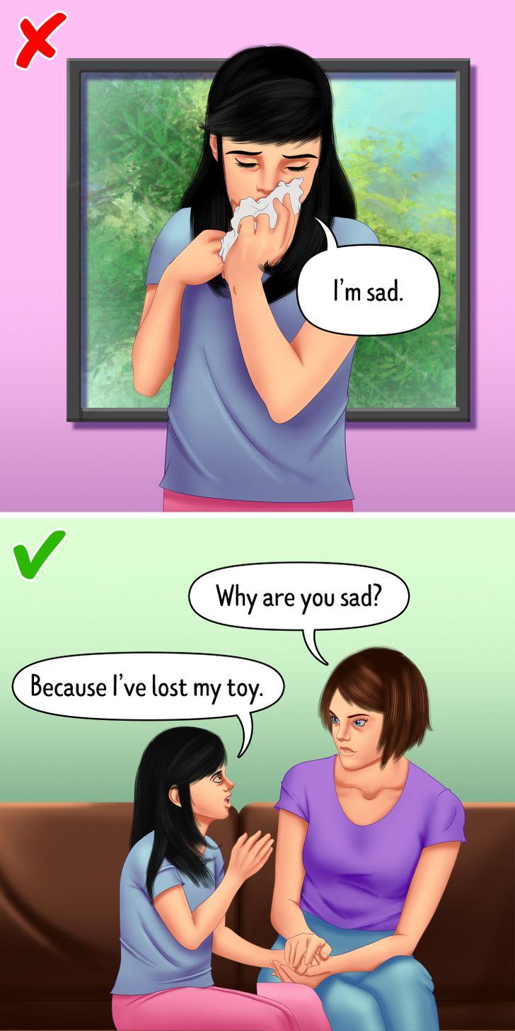 Dạy con bạn tìm hiểu nguyên nhân dẫn đến những cảm xúc của chúng