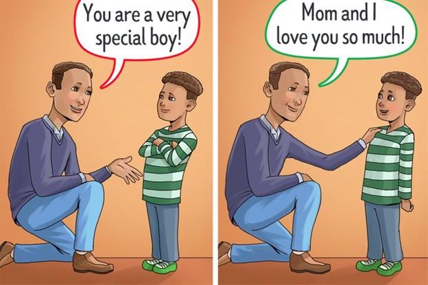 Đừng bao giờ để trẻ phải nghi ngờ về tình cảm của cha mẹ