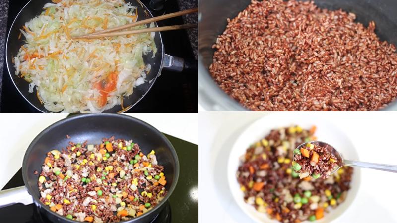 Giảm cân bằng Salad cơm gạo lứt