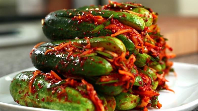 Giảm cân bằng dưa chuột, kimchi
