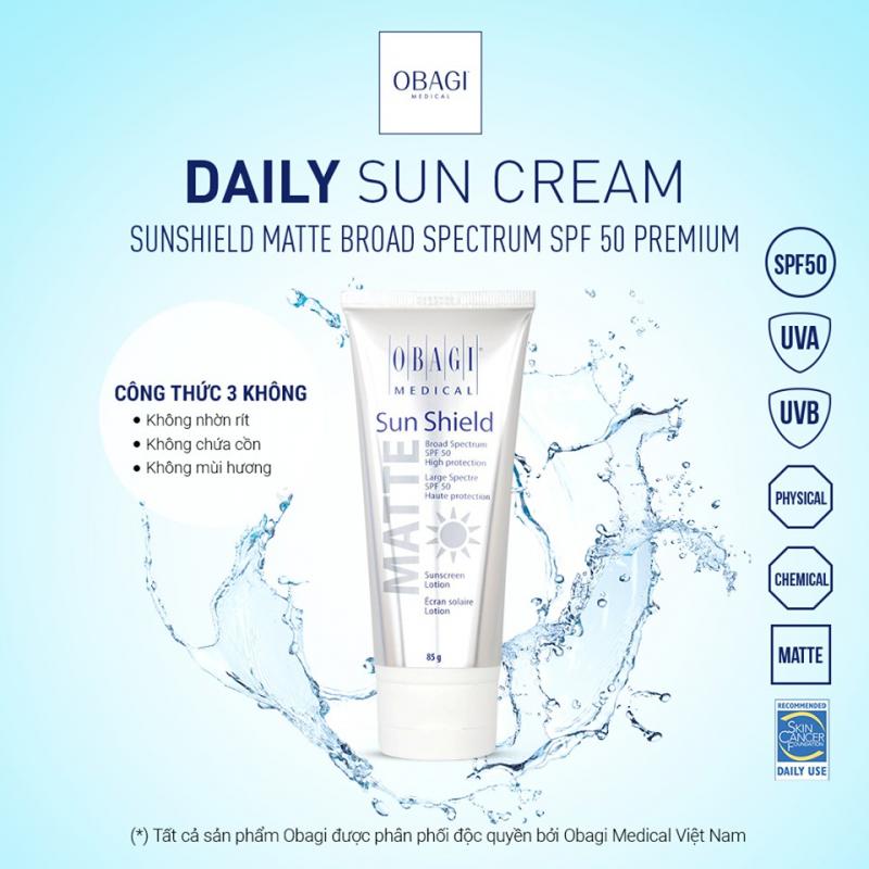 Kem chống nắng Obagi Sun Shield Matte Broad Spectrum Premium SPF 50