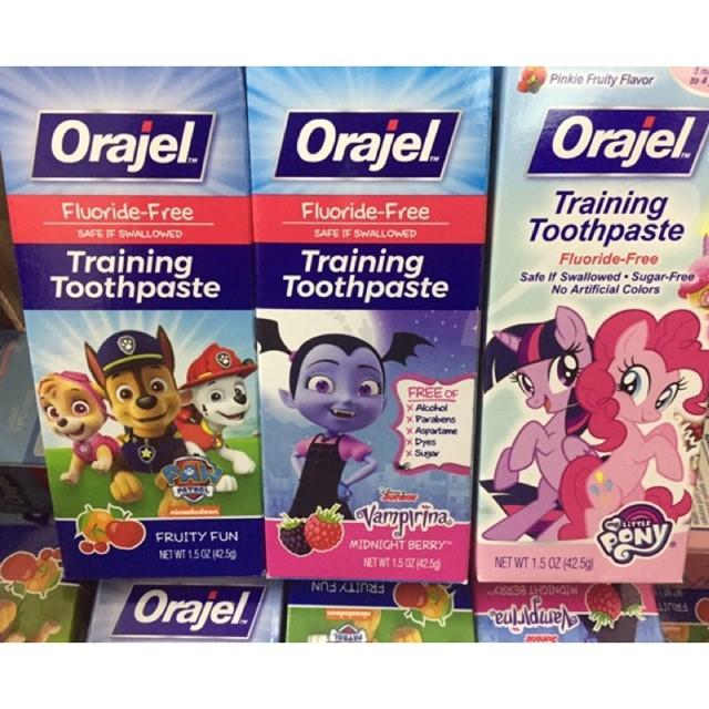 Kem đánh răng Orajel Training Toothpaste