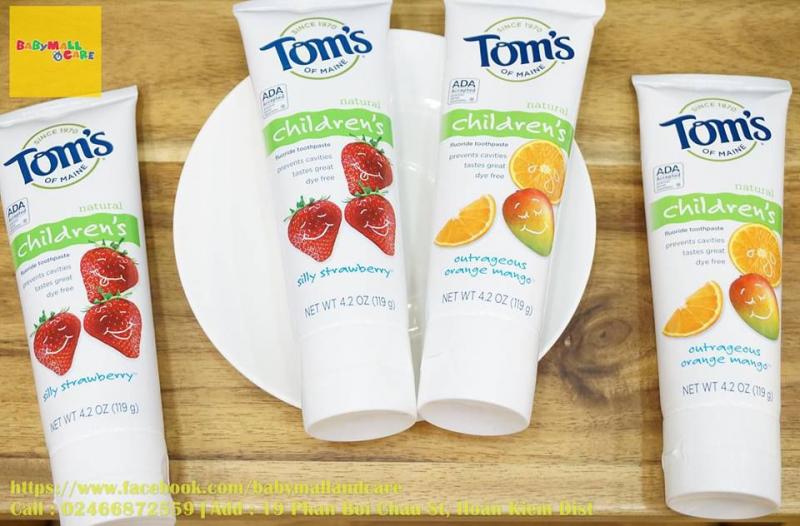 Kem đánh răng cho bé của Tom's of maine