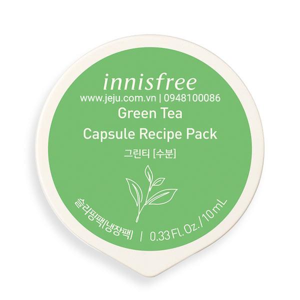 Mặt nạ ngủ dạng hũ từ trà xanh innisfree Capsule Recipe Pack Green Tea 10ml