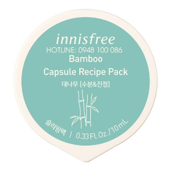 Mặt nạ ngủ dạng hủ từ tre innisfree Capsule Recipe Pack Bamboo 10ml
