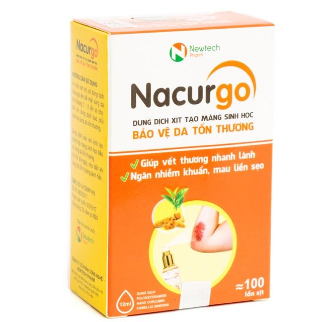 Nacurgo - băng vết thương dạng xịt