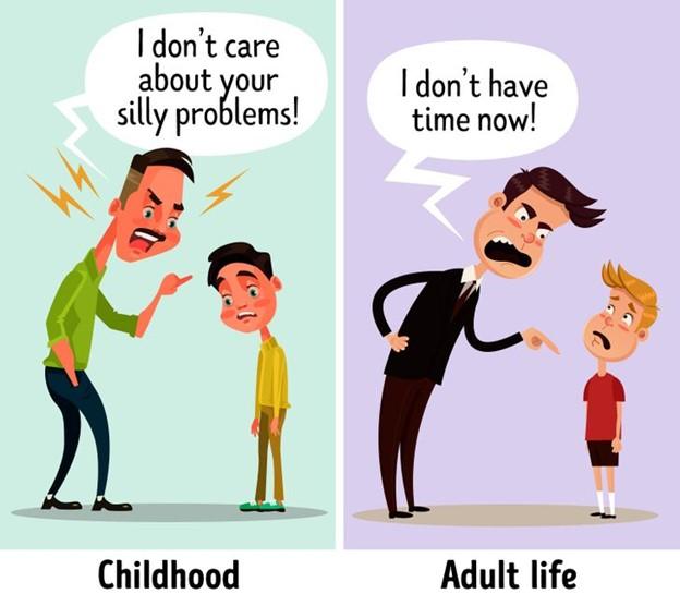 Người cha không thân mật nhiều đến con